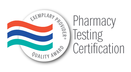 Exemplary Provider Pharmacy Testing Certification Award