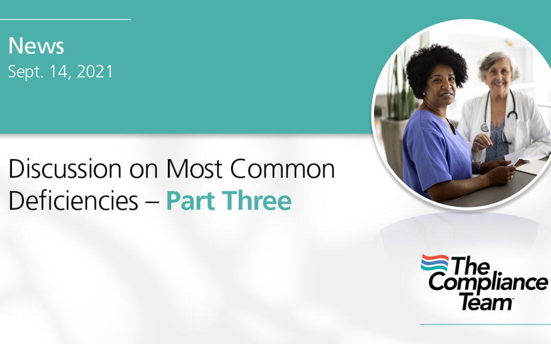 Common Deficiencies – Part 3